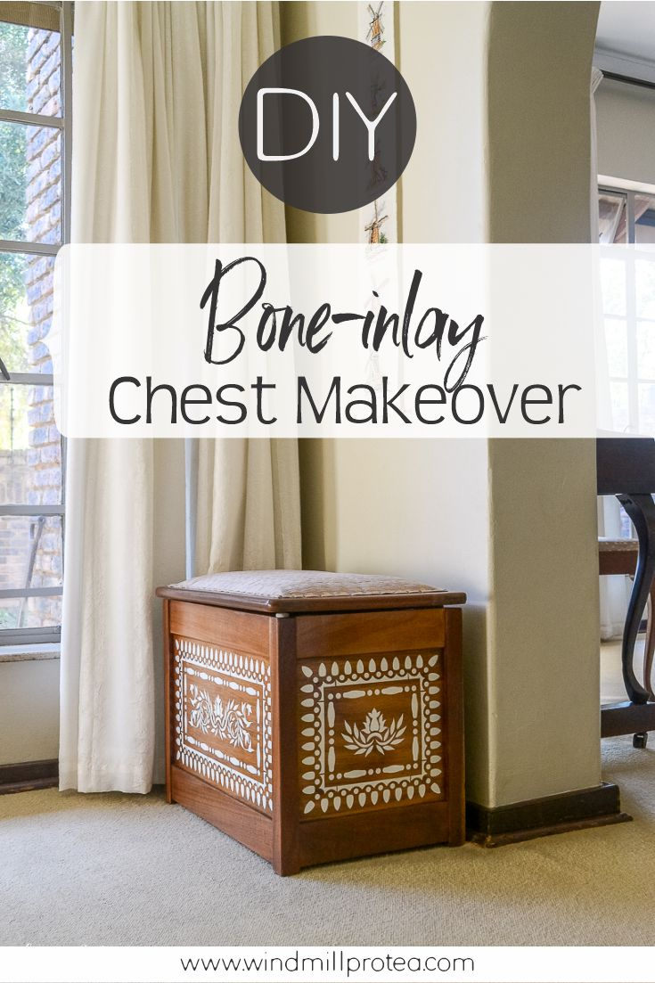DIY Faux Bone Inlay Chest Update | www.windmillprotea.com