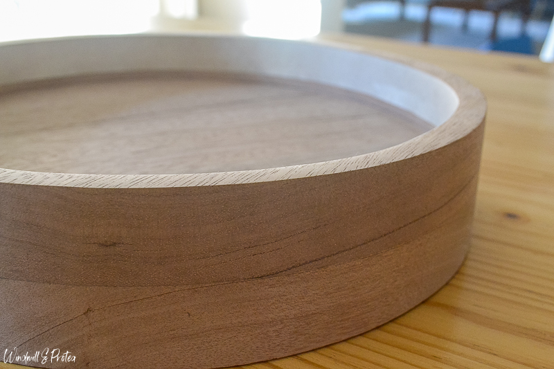 DIY Wood Kitchen Tray - Sand & tape off to start staining | www.windmillprotea.com