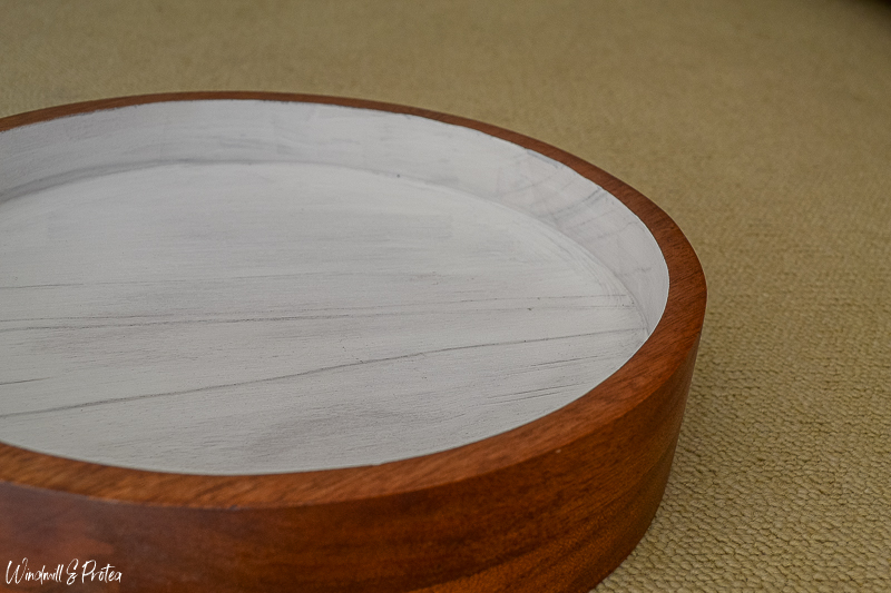 DIY Wood Kitchen Tray - Stained & first coat primed   www.windmillprotea.com