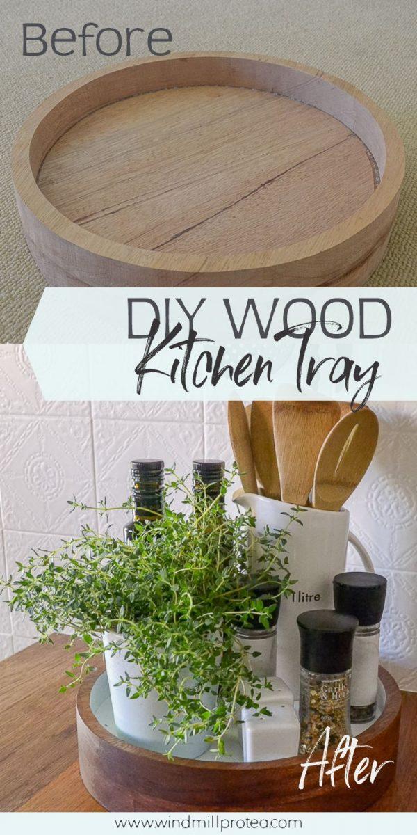 DIY Wood Kitchen Tray | www.windmillprotea.com