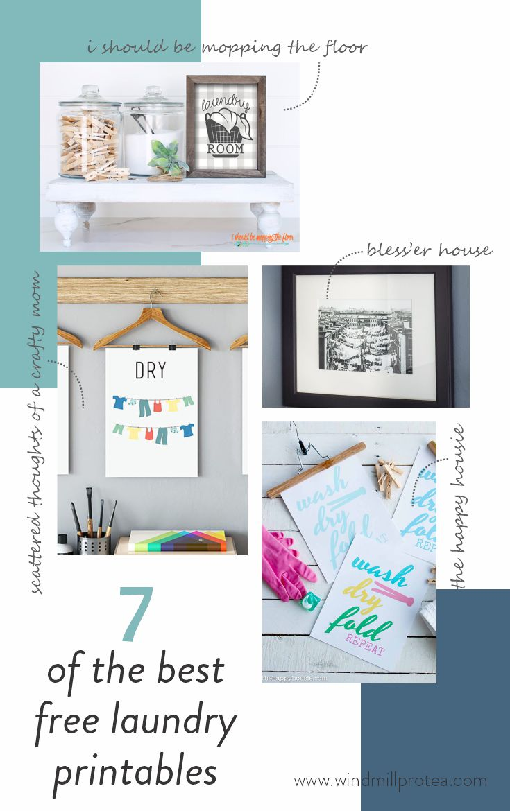 Best Free Printables For Laundry Room Wall Art Windmill Protea