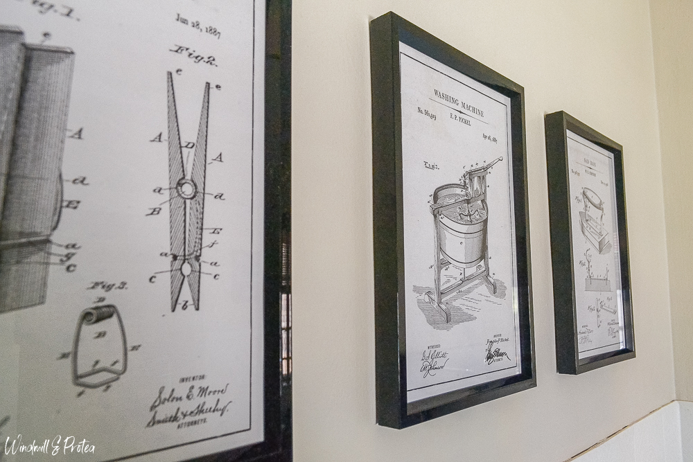 Laundry Room Wall Art - Patent art from: https://www.thenavagepatch.com/laundry-room-vintage-patent-prints/