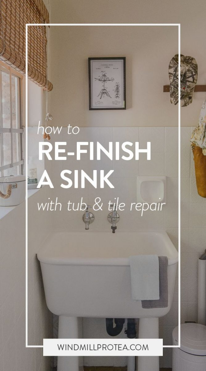 Big Impact DIY: How To Refinish Your Porcelain Sink | www.windmillprotea.com