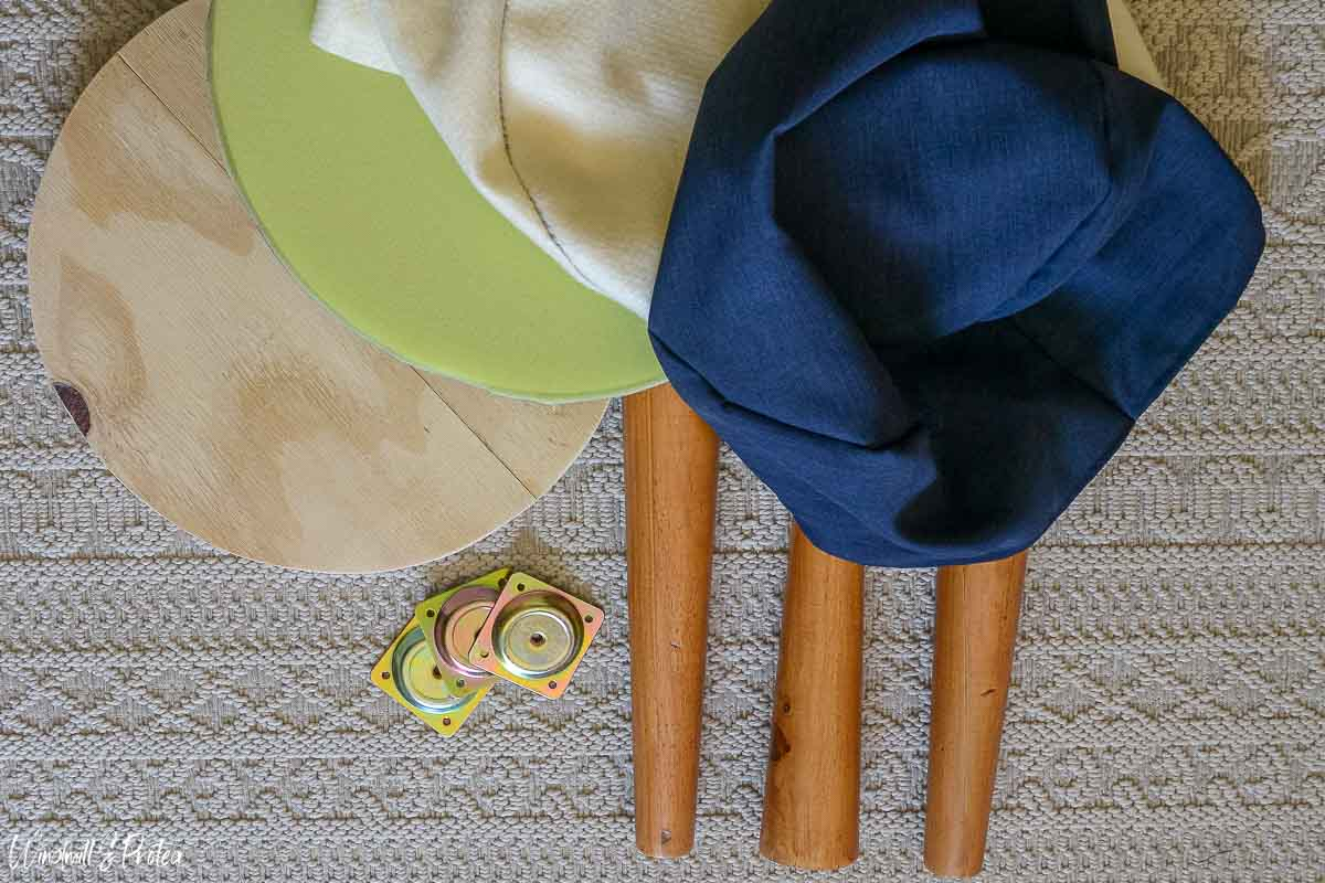 Supplies for making a DIY stool | windmillprotea.com