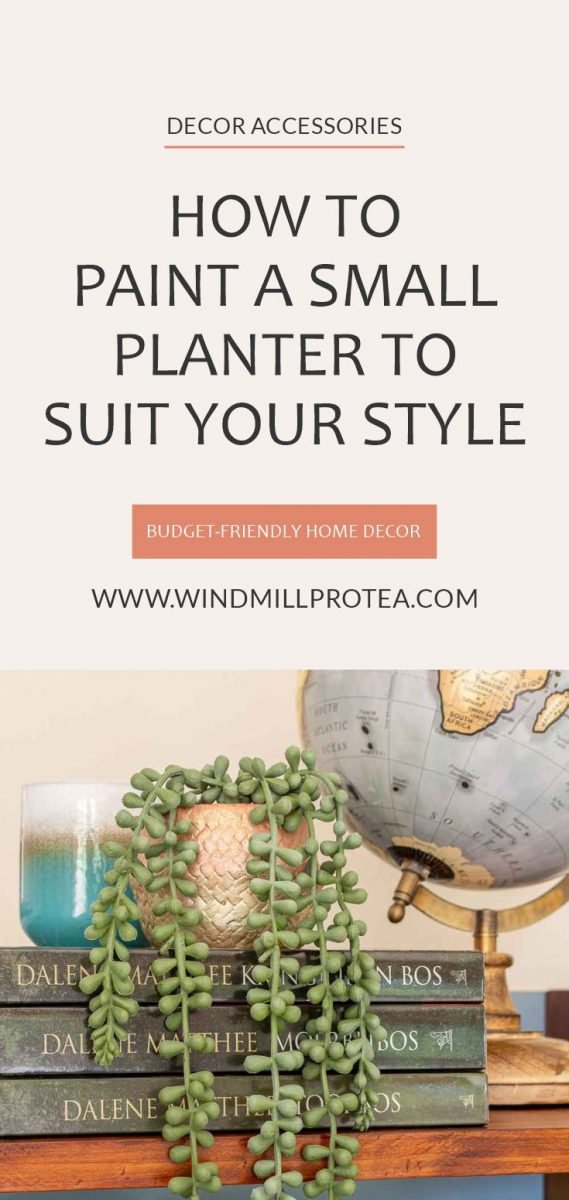 How to Paint a Small Planter to Suit your style | windmillprotea.com