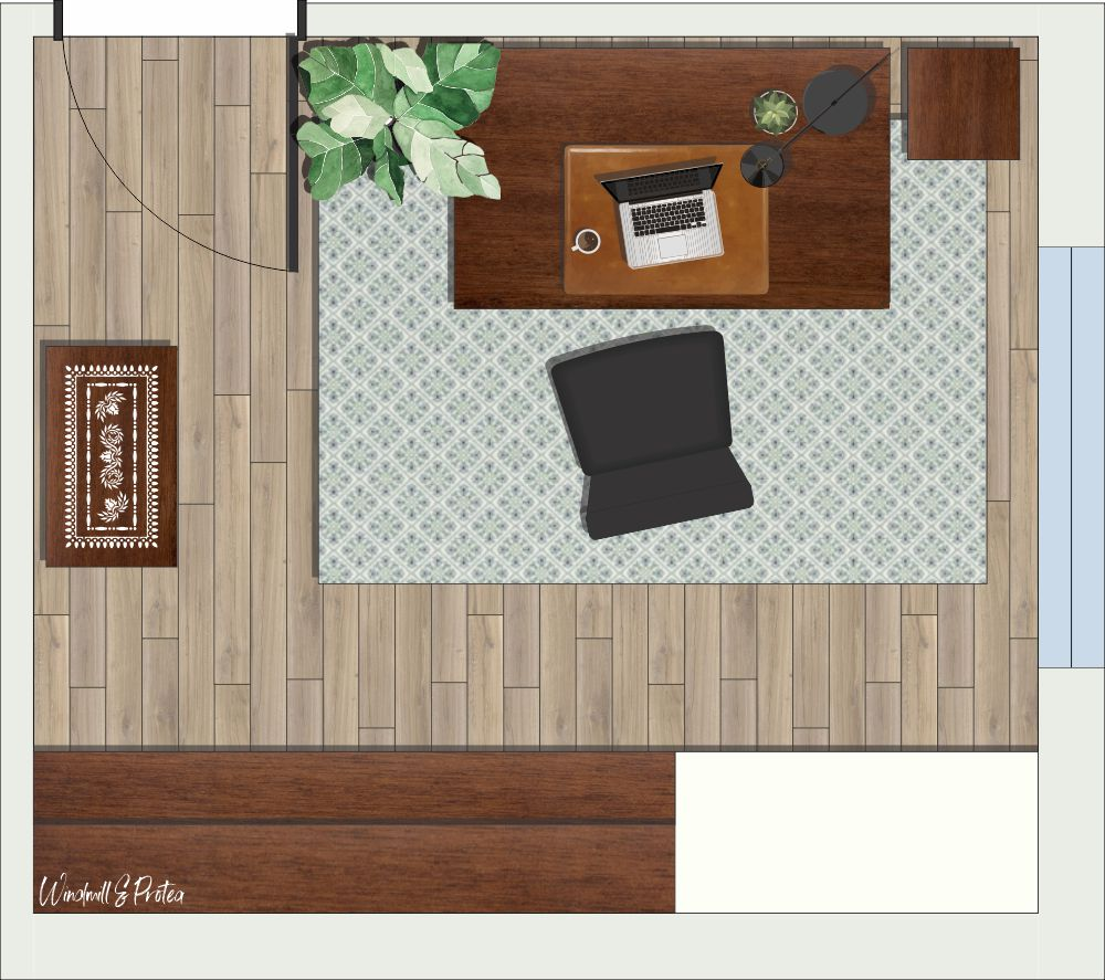 Office Floor Plan Design - for small home office| windmillprotea.com