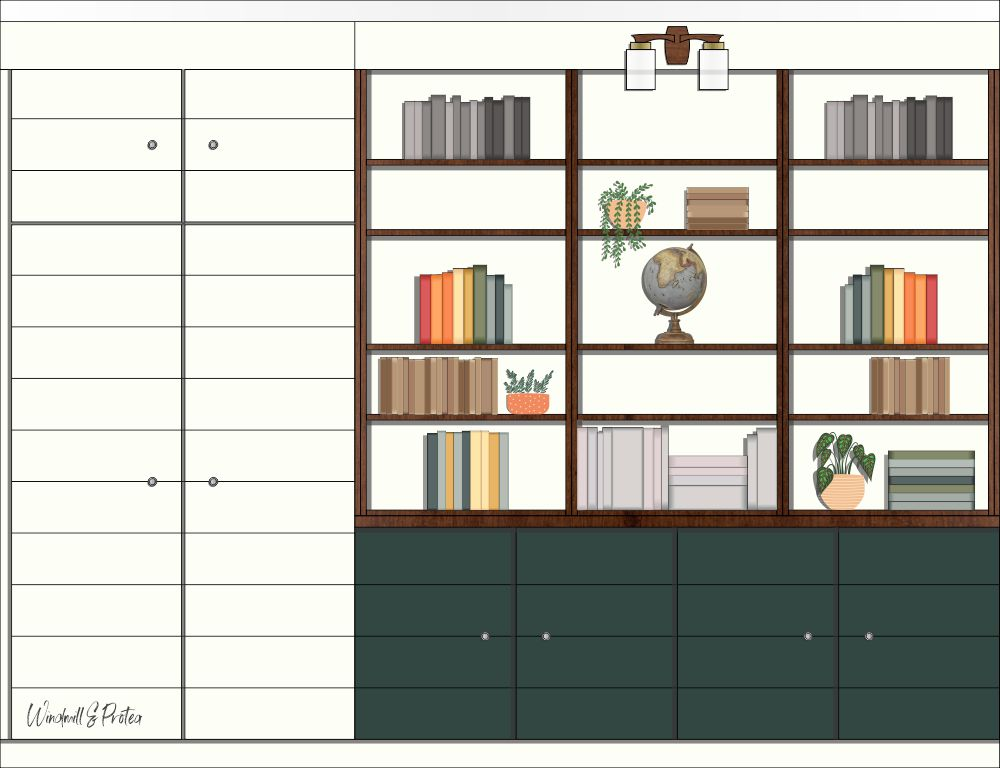 Built-In Cupboards and Shelving - Modern Home Office Design | windmillprotea.com