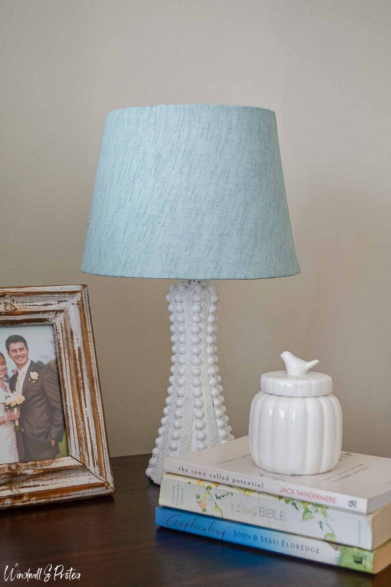 DIY Hobnail Table Lamp - After | windmillprotea.com