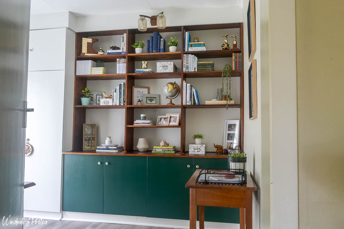 Built-in Shelving Unit in Home Office   www.windmillprotea.com