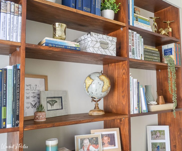 How to Decorate Bookshelves with Books | www.windmillprotea.com